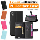Sony Xperia X / X Performance Leather Case PSC Cover Wallet Card Pouch Stand