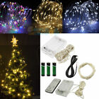 30/50/100LED Battery / USB Powered Copper Wire Xmas Party String Fairy Light 10M