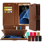 Goospery Dual Leather Wallet Book Case Cover For Galaxy S7 S8 S8+ S9 S9+ Note
