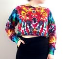 Tie Dye Sweater Jumper Cropped Grunge Hipster Tumblr Autumn Winter Christmas