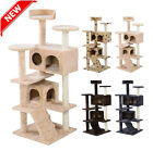 Cat Tree Tower Condo Furniture Scratch Post Kitty Pet House Play Beige Paws SK