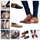 Women Casual Gladiator Leather Loafers Pointed Toe Slip On Flats Fashion Shoes