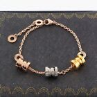18K Gold Filled Stainless Steel Jewelry Three Spring Hand Chain Woman's Bracelet