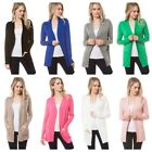 New Women Cardigan Long Sleeve Solid Open Front Sweater  (S-3X) (USA SELLER)