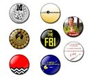 TWIN PEAKS 25 / 38mm button badge / magnet, gold shovel, Fire walk with me, FBI
