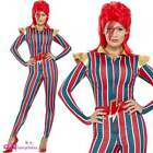 Womens Miss Space Superstar Adult Fancy Dress Costume David Bowie Ziggy Stardust