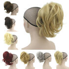 Women Short Wave Curly Ponytail Claw Thick Pony Tail Clip In On Hair Extensions