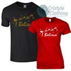 I Believe Santa Claus Funny Christmas T-Shirt with Father Christmas - All Sizes