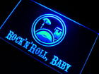 m120 b Rock n Roll Baby Band Room Neon Light Sign