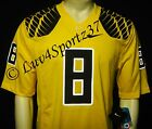 RARE Yellow OREGON DUCKS NIKE Limited Sewn Stitched JERSEY #8 Mariota MEN M 2XL