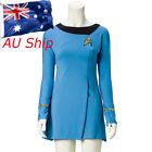 Star Trek Female Duty TOS Blue Uniform Classic Dress Cosplay Adult Costume Suit on eBay