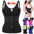 UK Hot Waist Training Shaper Vest Latex Neoprene Tummy Bodysuit Corset Underbust