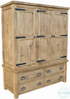 New Rustic Plank Solid Wood Wardrobe- Available Sizes(Single/Double/Triple/Quad)