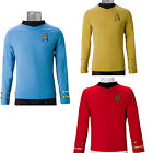 Cosplay Star Trek TOS Captain Kirk Shirt Uniform Classic Costume Red Blue Yellow on eBay