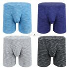 Sexy Mens Lingerie Soft Underwear Striped Shorts Tights Gyms Work Out Underpants