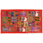 """20 X 40"""" Red Patchwork Boho Bohemian Indian Embroidered Boho Bohemian Indian Wal"""