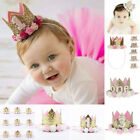 Baby Girls Boys Numbers Birthday Party holiday Crown Hat Headband Hairband Tiara