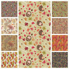 PATCHWORK/CRAFT FABRIC LEWIS & IRENE -  AUTUMN IN BLUEBELL WOOD - 15 DESIGNS