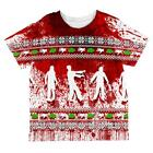 Ugly Christmas Sweater Bloody Zombie Attack Survivor All Over Toddler T Shirt