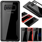 For Samsung Galaxy Note 8 &S8 Plus Ultra Slim Transparent Hybrid TPU Cover Case