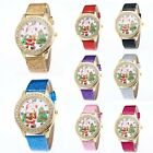 Christmas Crystal Women's Stainless Steel Quartz Dress Wrist Watches Hot XMAS