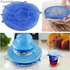 Stretch Lids 6PCS Silicone Food Saver Covers Reuseable Lid Cover MMJ