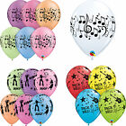 Musik Themen: Musik Notizen, Disco,Rock & Rolle bedruckt Qualatex Latex Ballons