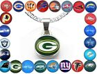 All 32 Football Teams Silver Curb Link Chain Necklace & Pendant D5-1 $16.95 USD on eBay