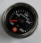 Electronic Water Temperature Gauge With Warning Spin Lock Mounting 52mm Chrome