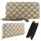 NEW WOMENS PATTERNED DESIGNERS STYLE WRISTLET ZIPPED WALLET PURSE