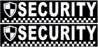 2 X MAGNETIC SECURITY VEHICLE SIGNS                  (sm47)