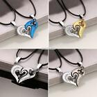 Hot Hollow Out Heart-shaped Charm Pendant Choker Necklaces with Leather S0BZ 01