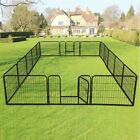 @Exercise Metal Play Pen16 Panel Puppy Cage Pet Dog Cat Fence FREE SHIPPING