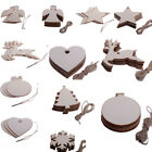 Wooden MDF Heart Shape Craft Blank Cutouts For Decoration Plaques Christmas Xmas