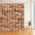 Old Wall Painting Polyester Fabric Bathroom Shower Curtain Set With Hooks 71Inch