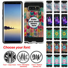 """For Samsung Galaxy Note 8 N950 6.3"""" Custom 3 Monogram Brushed Hybrid Case Cover"""