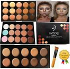 15 Colors Concealer Palette #1,#2 kit with Brush Face Makeup Contour Cream UK