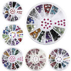Xmas3D Nail Art Rhinestones Glitters Acrylic Tips Decoration Manicure Wheel DIY
