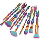 15PCS Mermaid Brush Set Pro Foundation Eyeshadow Brushes Makeup Brushes US Stock