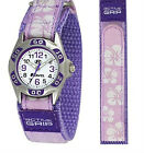 Childs Girl's Watch With Floral Flower Desgin RIP Strap G'te Pink,Purple,Blue