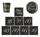 GLITZ GOLD FOIL TABLEWARE Decorations - Party/Ranges/18,21,30,40,40,50,60,70