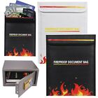 Fireproof Safe Bag Fire proof Resistant Pouch Cash Documents Passbook Storage
