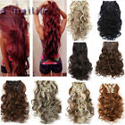 Long NEW Full Head Clip in Hair Extensions Clips ins Real Natural For Human XY92