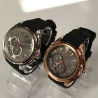 New GANT W11001 Silver / W11006 Rose Gold Chronograph Silicone Band Men Watchs