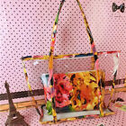 Women Lady Clear Transparent Flowers Beach Bag Shoulder Jelly Candy Handbag Tote