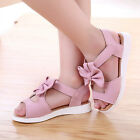 Autumn Toddler Kids Baby Girl Beach Bowknot Sandals Bow Leather Pricness Shoes