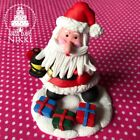 CHRISTMAS CHARACTERS Figurines claydough snowman penguins santa cake toppers