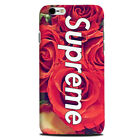 Supreme Hard Matte phone case cover Apple Iphone 4 5 Galaxy S7 S5 gift s6 flower