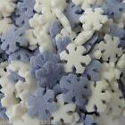 FROSTY FROZEN SNOWFLAKES EDIBLE SUGAR SPRINKLES CUPCAKE TOPPERS CAKE DECORATIONS