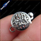Wholesale 10 pcs 1 Strings 9mm Filigree Silver Plated Jewelry Clasp Findings